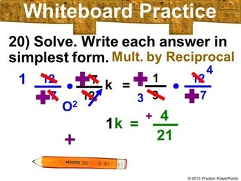 (8th) Solving Equations with Rational Numbers in a PowerPoint Presentation