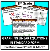(8th) Graphing Linear Equations in Standard Form in a PowerPoint Presentation