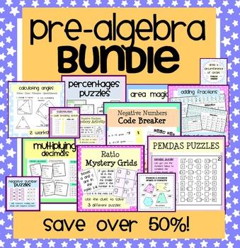 Pre-Algebra Activity & Worksheet Bundle