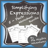 Simplifying Algebraic Expressions Activity (Distribute & Combine Like Term}