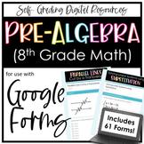Pre-Algebra/ 8th Grade Math Google Forms Bundle