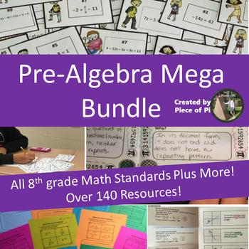 8th Grade Math Pre Algebra Growing Mega Bundle