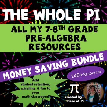 8th Grade Math Pre Algebra Growing Mega Bundle
