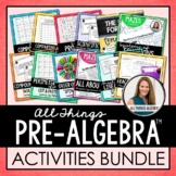 Pre-Algebra Activities Bundle