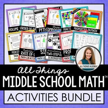 Middle School Math Activities Mega Bundle