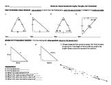 Pre-Algebra: Angle Properties Review Worksheet