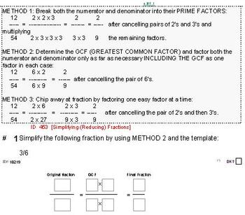 HS [Remedial] Pre-Algebra B Sampler: (textbook-less course)-32 pgs