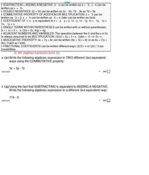 HS [Remedial] Pre-Algebra B UNIT 7:Algebraic Expressions(4 worksheets;7 quizzes)