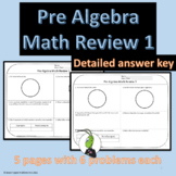 Pre Algebra Back to School Math Review