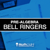 Pre Algebra Bell Ringers COMPLETE Set - review / practice
