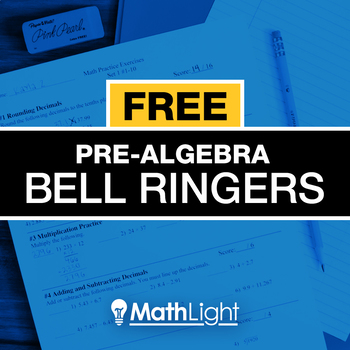 Pre-Algebra Bell Ringers Single Set - review / practice exercises