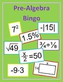 Pre-Algebra Bingo