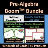 Pre Algebra Math Skills Boom Digital Task Card Bundle