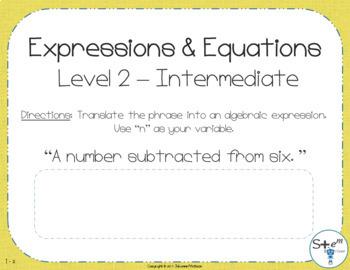 Pre-Algebra Chapter 1 Bundle with Boom Learning Digital Card Decks