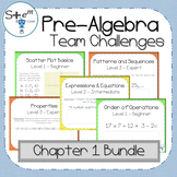 Pre-Algebra Chapter 1 Bundle with Boom Learning Digital Ca