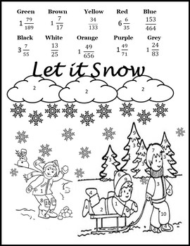 Dividing Mixed Numbers {Fractions Review} {Winter Math Worksheets}