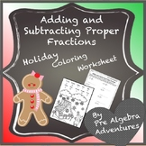 Adding and Subtracting Fractions Review  {Fractions Math Worksheet}
