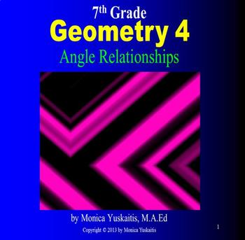 Common Core 7th Geometry 4 - Angle Relationships