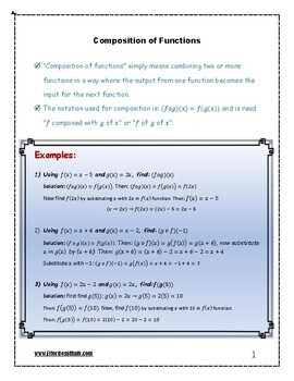 Pre-Algebra Complete Course: Composition of Functions