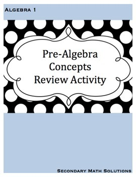 Pre-Algebra Concepts Review Activity: Decimals, Fractions,