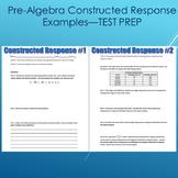 Pre-Algebra Constructed Response Questions