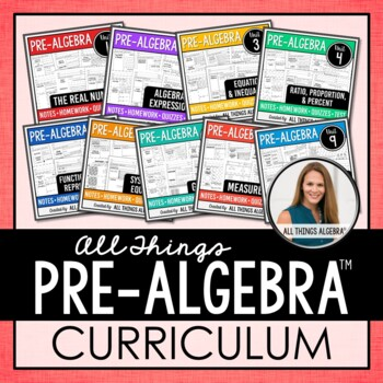 Pre-Algebra Curriculum by All Things Algebra | Teachers ...