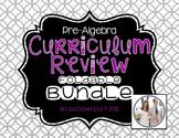 Pre-Algebra Curriculum Review (Foldable Bundle)
