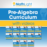 Pre Algebra Curriculum with Videos Bundle | Good for Dista