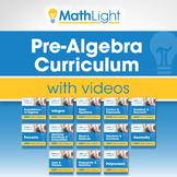 Pre Algebra Curriculum with Videos Bundle   Good for Dista