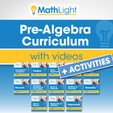 Pre Algebra Curriculum with Videos + Activities | Good for