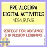 Pre-Algebra Digital Activities MEGA Bundle - 80+ Resources!