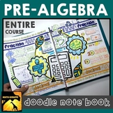 Middle School Pre-Algebra Doodle Note Book
