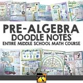 Pre-Algebra Doodle Note Book (full course - PRE SALE)