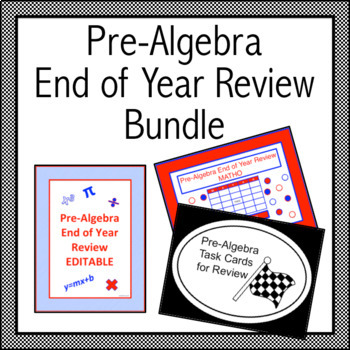 Pre-Algebra End of Year Review Bundle
