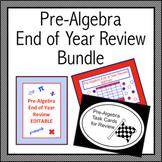 Pre-Algebra End of Year Review Bundle