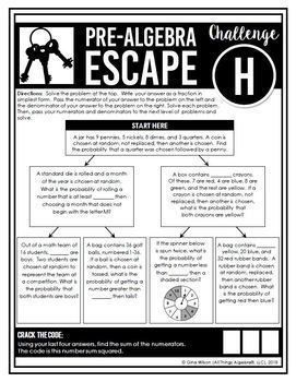 Pre-Algebra End of Year Review - Escape Room Activity by ...