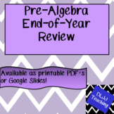 Pre-Algebra End-of-Year Review