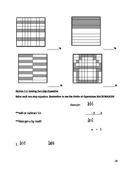 Pre-Algebra Final Exam Review Packet