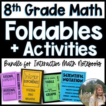 The Ultimate Foldable & Activity Bundle for Pre-Algebra (8th Grade Math)!