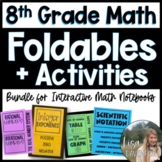8th Grade Math/ Pre-Algebra Foldable & Activity Bundle for Interactive Notebooks