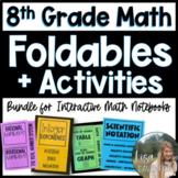 8th Grade Math/ Pre-Algebra Foldables and Activities Bundle