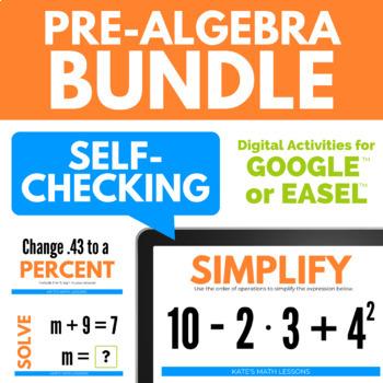 Pre-Algebra Google Drive Activity Bundle