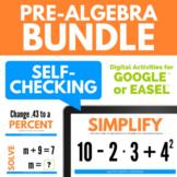Pre-Algebra Digital Activities for Google Drive BUNDLE