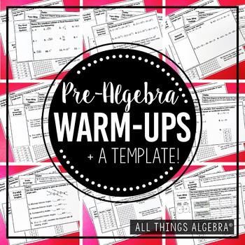 Pre-Algebra Warm-Ups
