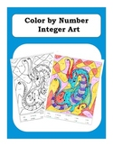 Pre-Algebra: Adding and Subtracting Integers Color by Number Picture