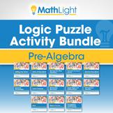 Pre-Algebra Logic Puzzle Bundle- Good for Distance Learning!