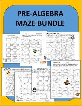 Middle School Math Maze Bundle