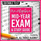 Pre-Algebra: First Semester Test (Midterm) and Study Guide
