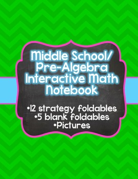 Pre-Algebra/ Middle School Math Interactive Notebook