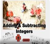 """Pre-Algebra: (NS.2) """"Adding & Subtracting Integers"""" Prezi/iPad Lesson"""